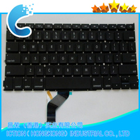 100% test and new Black US Laptop keyboard with back light for Macbook A1425