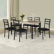 Heavy duty 6 seater metal dining table set wholesale