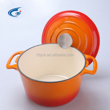 High quality orange Enamel cast iron cookware/ casserole set