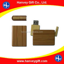 Wooden or bamboo usb flash cards thumb drives