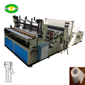 Toilet paper rewinding and perforating machne