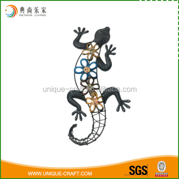 Home decorative Use and Metal Material lizard metal wall art