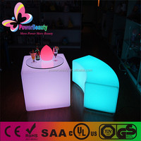 led rgb color outdoor lighting table illuminated coffee table led mood light cube