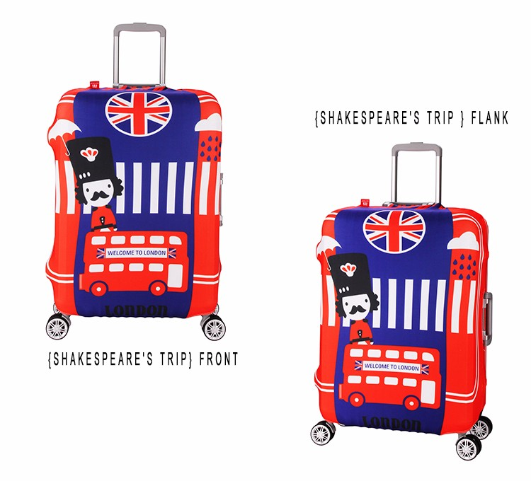 Durable Colorful Travel Suitcase Spandex Luggage Cover For Wholesale