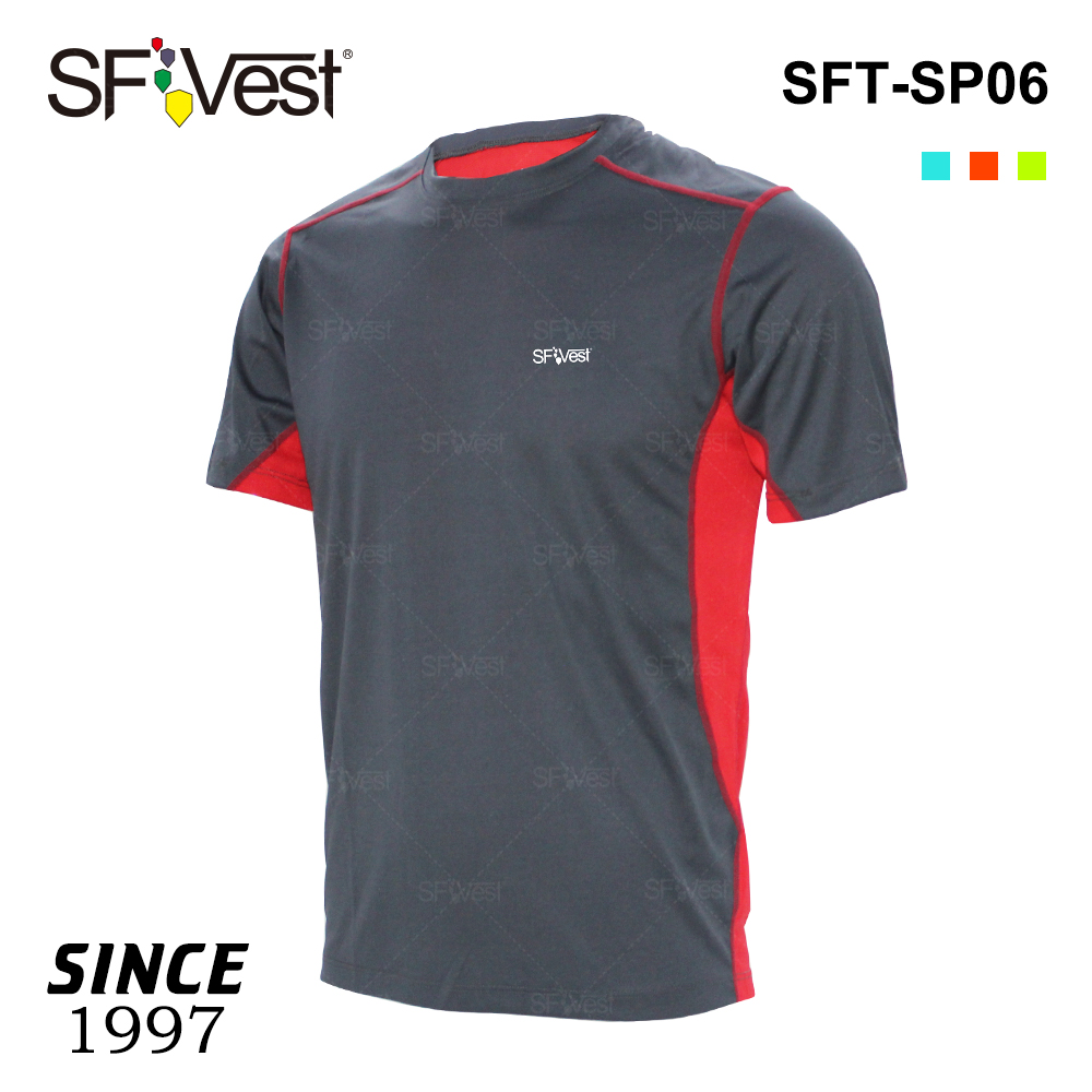 Fitness fashion running new design two tone light-weight reflecting man's OEM t-shirts