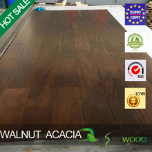 Engineered Acacia walnut color flat surface multilayer hardwood flooring hot sale