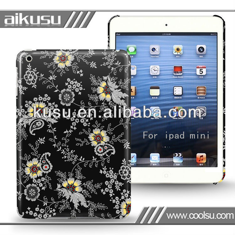 2013custom cartoon character case for miniipad with flower series