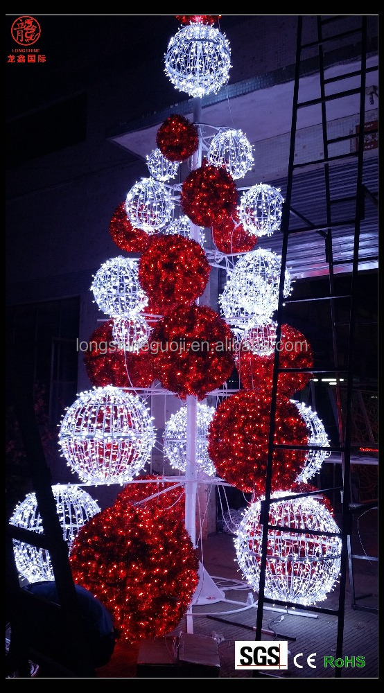 6m large led ball Christmas tree light outdoor