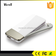 Ultra Slim, Credit Card Size, Aluminum Material 5500mAh Wallet-Sized Ultra Slim External Battery Pack Portable Battery Charger