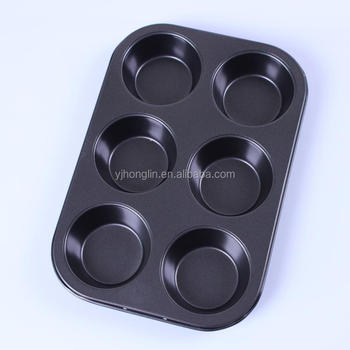 bakeware egg tart cake mold non-stick molds 6 cups round shape cupcake pan