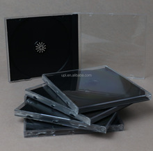 10.4mm Single Jewel CD Case with black tray for 1CD