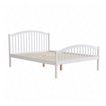 New Model Design Pine Wooden Adult King Size Bed Frame