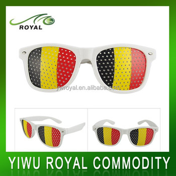 Fashion Belgium Flag Custom Pinhole Funny Sunglasses