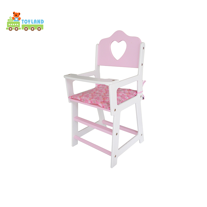 New Products Indoor Non Toxic Paint Natural Wooden Dollhouse Chair