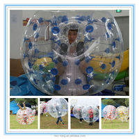Funny football game use wearable inflatable bumper ball for human hamster ball