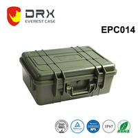 ABS IP68 hard watertight tough storage plastic equipment case fitted for medical instruments