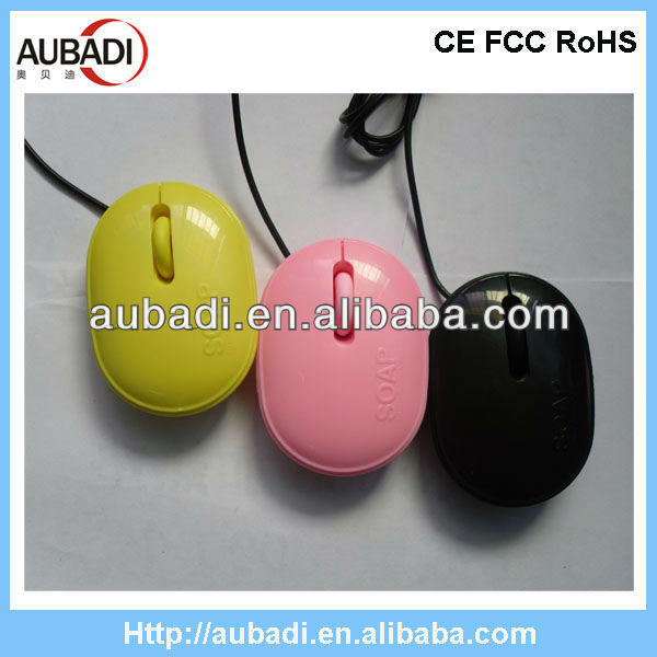 Cute soap shape mini wired optical laptop mouse