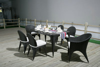 Outdoor Furniture Garden Rattan Bistro Vase Dining Table and Chair SV-2063