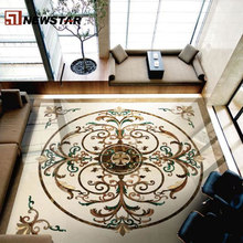Newstar carrelage marbre waterjet marble tiles design floor pattern