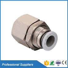 Hot selling male and female brass fitting nickel plated straight quick brass fitting for pvc pipe