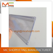 Supermarket Shelf Plastic Price/Data Strip Label Holders Tag Holders Sign Holders for Flat Surface with Adhesive