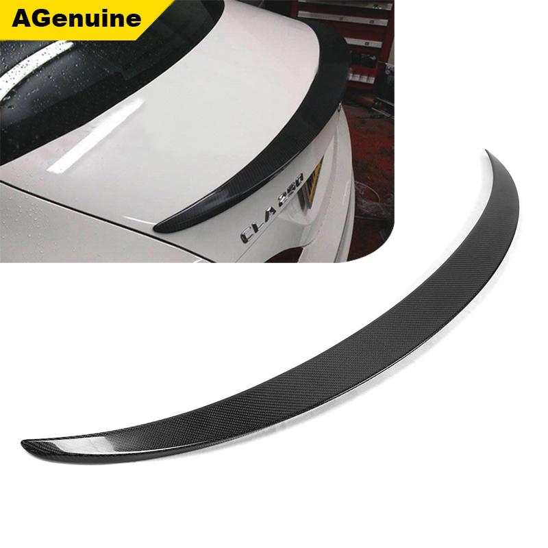Piecha carbon fiber car rear trunk spoiler boot lip spoiler wing for Mercedes Benz CLA 180 200 250 260 CLA45 <strong>W117</strong>