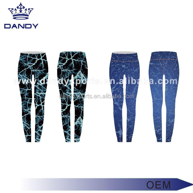 2017 Full sublimation custom design leggings activewear compression yoga pants with pockets for gym women