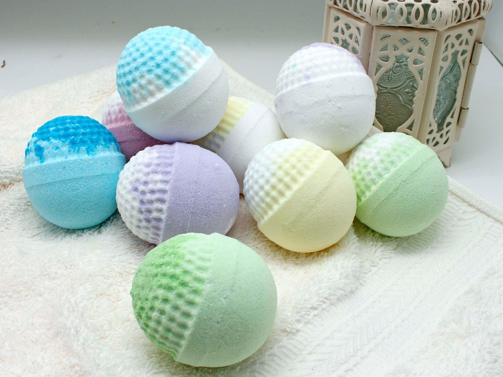 Spa colorful scented fizzy bath bombs set for sale