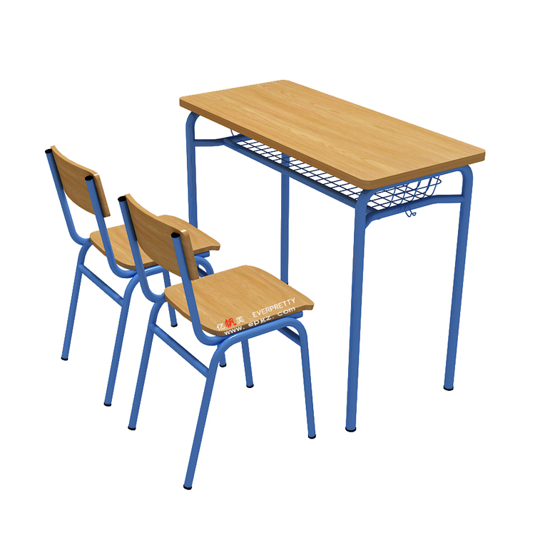 Two Student Desk and Chair Set,Popular Style Smart Double Student Desk and Chair,Student Wood Metal Study Desk and Chair