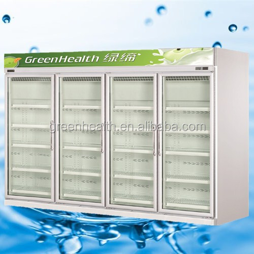 cosmetic display cabinet and showcase / Assembled freezer / chiller display cabinet for US standard