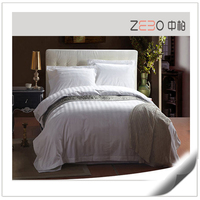Classic Sateen Stripe Fabric High Quality Cotton Queen Hotel Life Sheet Sets