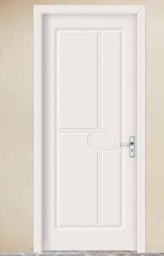 New standard Plain white wooden bedroom PVC door for sale