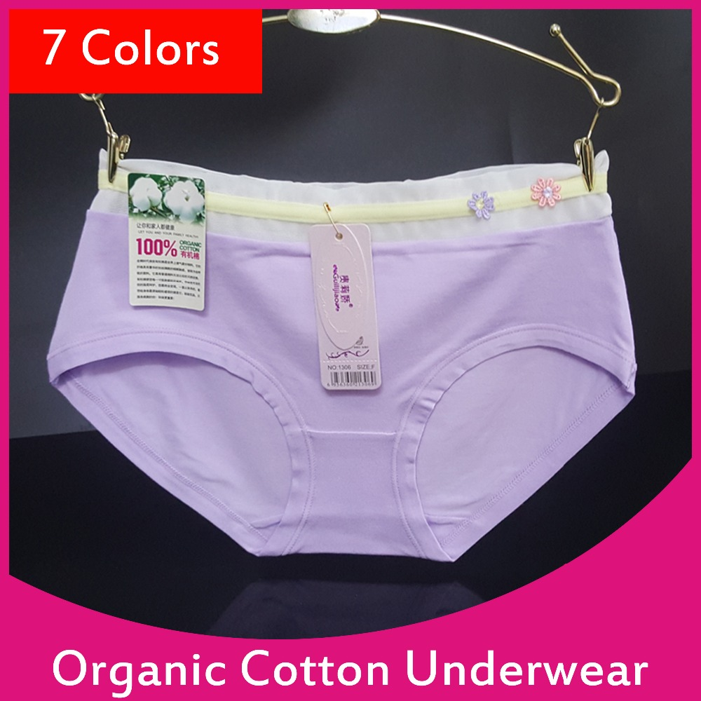 Good Quality Women Underpants Organic Cotton Underwear Wholesale 1306