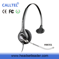 Noise canceling Call Center VOIP Monaural Telephone Headsets with Voice Tube for Call Center