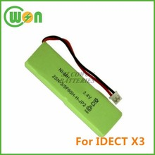 X3 Battery for IDect X3, X3i battery for cordless telephone 2SN-3/5F60H-H-JP2, CP74