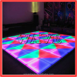 WLK-1-1 640 pcs RGB leds manufacture dance flooring led glass brick