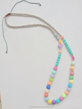 kids colorful bead chunky necklace handmade fashion beaded necklaces yiwu market jewelry 2017