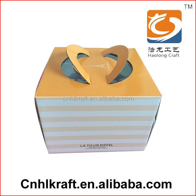 Custom Eco-Friendly Colorful Food recycled paper box For Cake Wholesale Manufcture Printing