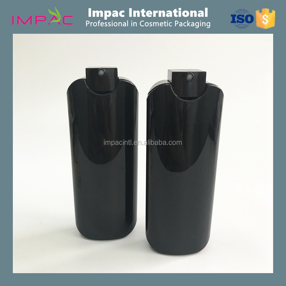 High quality 40ml PP plastic black perfume bottle with spray pump
