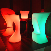 bar shop counter design LED Lighting chairs and tables for chair table stage backdrop decoration