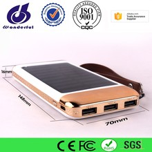 Slim Portable Solar Power Bank Charger Led, Mini Menu Solar Powerbank, Power Bank Solar Waterproof