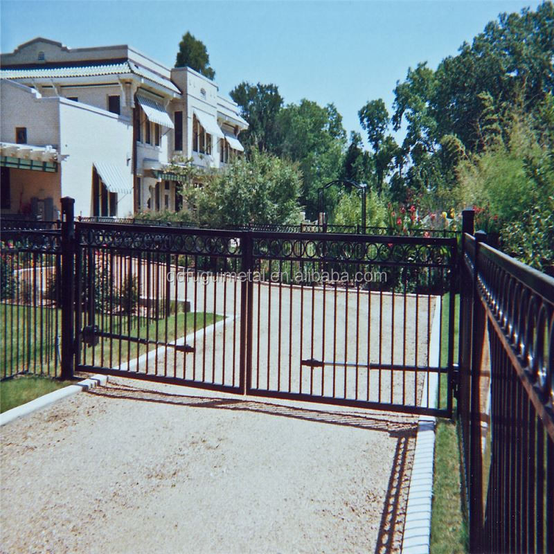 Cheap wrought iron gate/main iron gate design for home