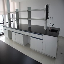 High quality laboratory island bench with reagent rack