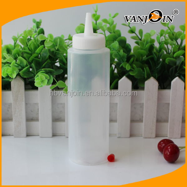 250ml Polyethylene Durable Plastic Squeeze Style Empty Bottle for Ketchup Olive Oil