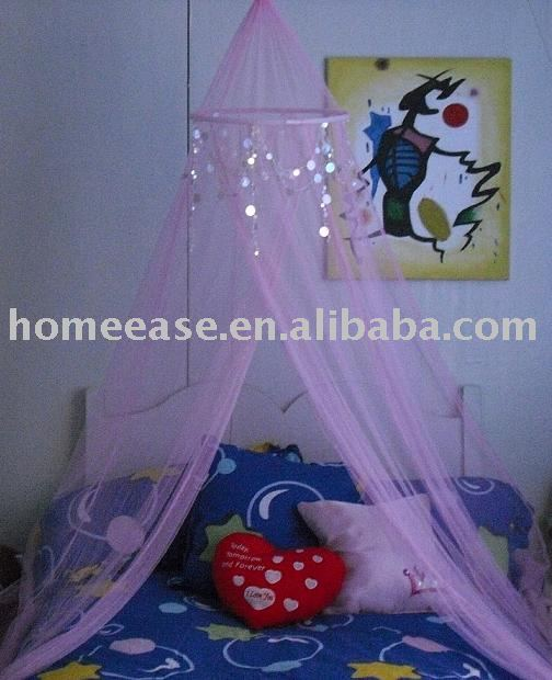 Kids Mosquito net with beads/ Kids bed canopy with beads