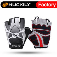 Nuckily leather bicycle gloves half finger cycling gloves