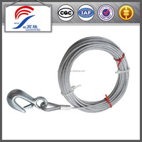 emergency car tow rope with steel snap hook