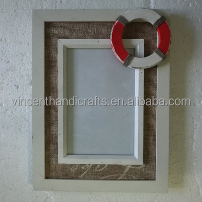 Swim ring decoration vintage wooden photo frame