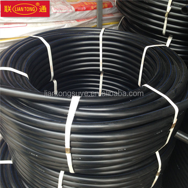 Liantong GB standard high quality hdpe pipe rolls pn16 sdr11, 20mm hdpe pipe, pe100 tubes factory