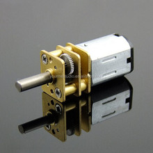 New 3-12V N20 Small Metal DC Geared Motor With D-shaft Rubber Tires